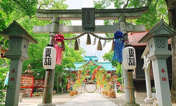 七夕飾りの浅間神社1