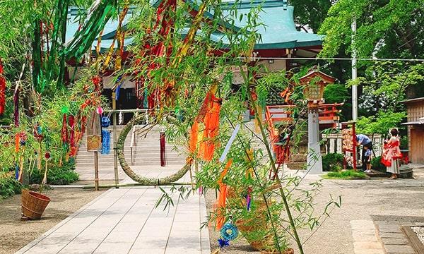 七夕飾りの浅間神社2